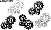Sprocket wheel — Stock Vector