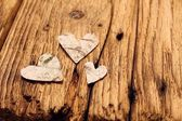 Birch bark hearts — 图库照片
