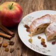 Apple pie on white plate — Stock Photo #59698047