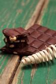 Dark nut chocolate and pedig spiral — Foto de Stock