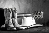 Cowboy Western Scene — Stok fotoğraf