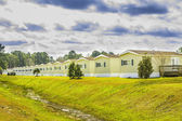 Row of Identical Mobile Homes — Stock Photo