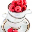 Fresh raspberries in a cup — Stock Photo #61115857