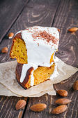 Slices of carrot cake  — Stock Photo