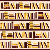 Vector abstract bookshelf- Illustration — Stock Vector