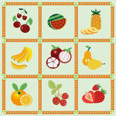 Fruit icons - Illustration — Stock Vector