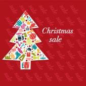 Fashion Christmas Tree - Illustration — Stockvector