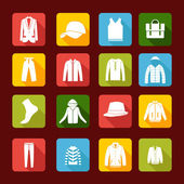 Set with collection of  men clothing  - Illustration — Stockvektor