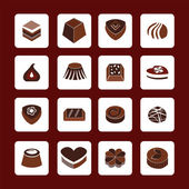 Set icons of Chocolate  Icons - Illustration  — Stock Vector