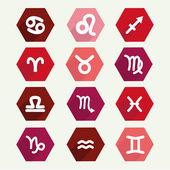 Astrology simbols in flat style — Stock Vector