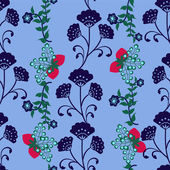 Seamless background Floral pattern — Stock Vector