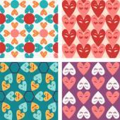 Vector pattern seamless of Valentine hearts - Illustration — Stock Vector