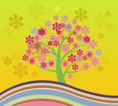 Blossoming Cherry Tree Abstract Illustrations  — Stockvektor
