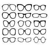 Vector set of fashion glasses icon — Stock Vector