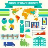 Infographics medical elements set for flat design — Stock Vector