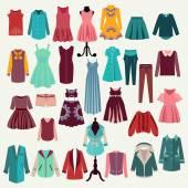 Fashion boutique  for design fashion look — Stock Vector