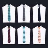Fashion of different Neckties — Stock Vector