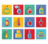 Vector set of perfume bottles - Illustration — Stock Vector