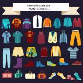 Collection of man  clothes and accessories — Stock Vector