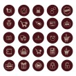 Shopping and Retail related icons set - Simplines series. — Stock Vector #78258804