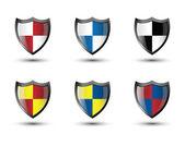Shield Flag — Stockvector