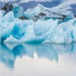 Detial view of iceberg in ice lagoon - Jokulsarlon, Iceland. — Stock Photo #57266125