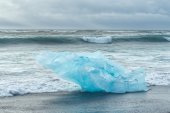 Detial view of iceberg on ocean shore, Iceland. — Stock Photo