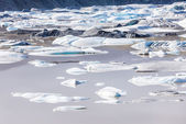Aerial view of famous Jokulsarlon ice lake, Iceland. — Stockfoto