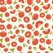 Pattern with tomatoes — Vector de stock