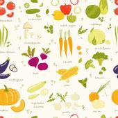 Assorted vegetables — Stock Vector