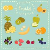 Juicy fruits — Stock Vector