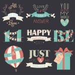 Valentine's Day symbols and design elements — Stock Vector #69683317