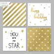 Collection of 4 card templates — Stock Vector #69684095