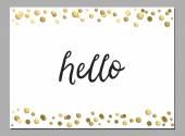 Cute card with hello word — Stockvektor