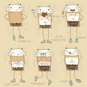 Coffee to go stickers — Stock Vector