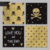 Collection of 4 card templates. — Vecteur