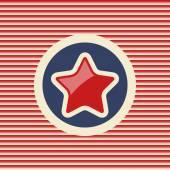 American star flat icon — Stock Vector