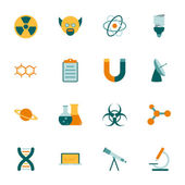 Science flat icons set — Stock Vector