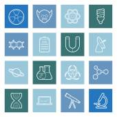 Science lines icons set — Stock Vector