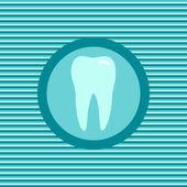 Teeth color flat icon — Stock Vector