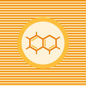 A molecule Chemical formula color flat icon — Stockvektor