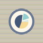 Graph pie color flat icon — Stock Vector