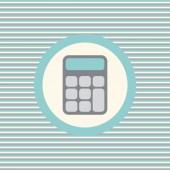 Иконка Калькулятор цвет плоский — Cтоковый вектор