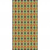Geometric stained glass window background — Stock Vector