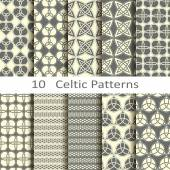 Set of ten Celtic patterns — Stockvector