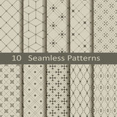 Set of ten seamless patterns — Vecteur