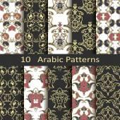 Set of ten arabic patterns — Stock Vector