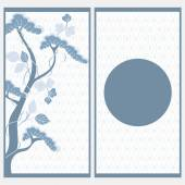 Invitation card in japanese style — Stock Vector