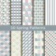 Set of ten spring patterns — Stock Vector #59690587