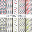 Set of ten pretty patterns — Vector de stock  #59972777